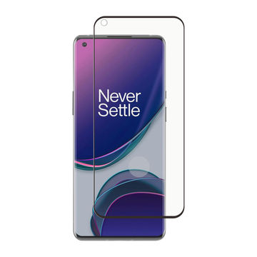 Screenor OnePlus 9 Pro Premium-panssarilasi, Curved Full Fit, musta