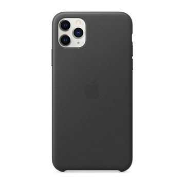 Apple iPhone 11 Pro Max Leather Case -suojakotelo, Musta