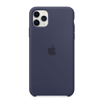Apple iPhone 11 Pro Max Silicone Case pehmeä suojakuori, Midnight Blue
