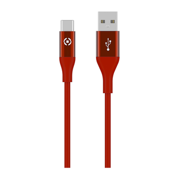 Celly USB-C Color 3M latauskaapeli, punainen