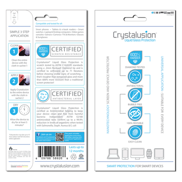 Crystalusion Liquid Glass Protection -näytönsuoja