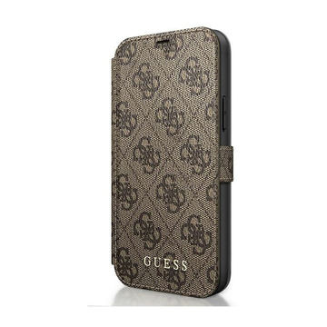 Guess iPhone 12 Pro Max -lompakkokuoret, Charms Collection ruskea