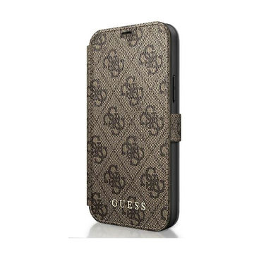 Guess iPhone 12 / 12 Pro -suojakuoret, Charms Collection ruskea