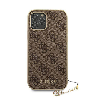 Guess iPhone 12 Pro Max -suojakuori, Charms Collection ruskea