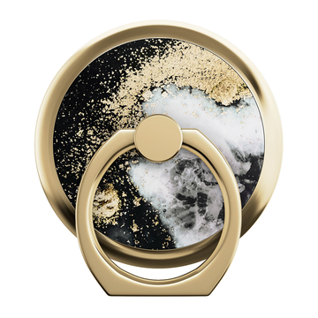 iDeal of Sweden Magnetic Ring Mount, Black Galaxy Marble -rengaspidike