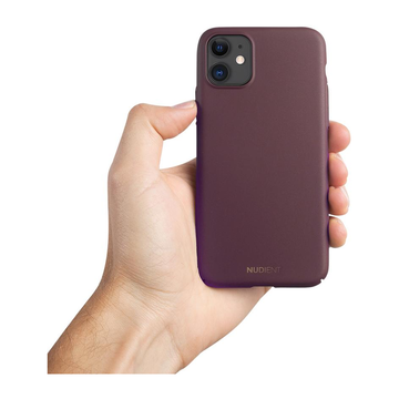 Nudient iPhone 11 Thin Case V2 -suojakuori, Sangria Red