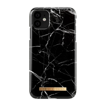 iDeal of Sweden iPhone 11 Fashion Case, Black Marble
