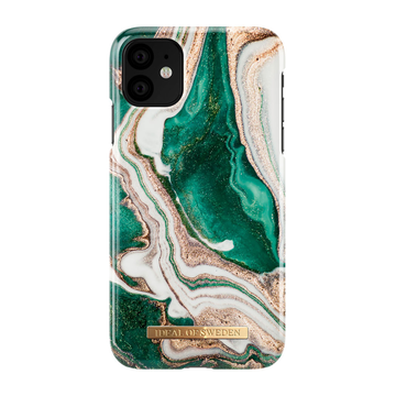 iDeal of Sweden iPhone 11 Fashion Case, Golden Jade Marble