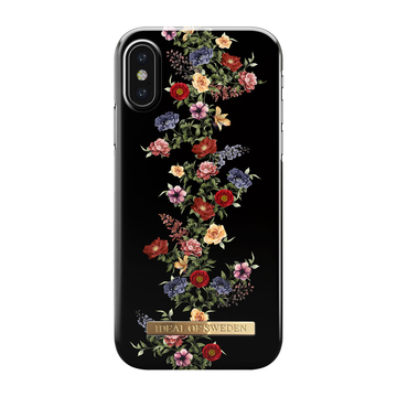 iDeal of Sweden iPhone X/ Xs Fashion Case, Dark Floral
