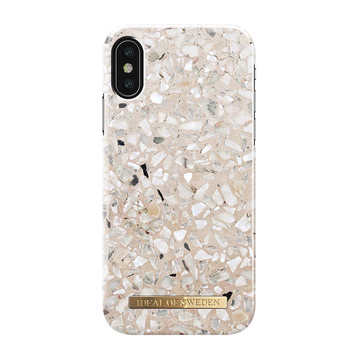 iDeal of Sweden iPhone X/ Xs Fashion Case, Greige Terazzo Marble