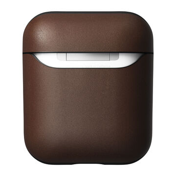 Nomad Airpods 1 & 2 Rugged Case V2 -suojakuori aidosta nahasta, Rustic Brown