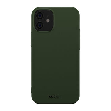 Nudient iPhone 12 Mini Thin Case V2 -suojakuori, Majestic Green
