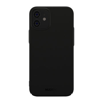 Nudient iPhone 12 Mini Thin Case V2 -suojakuori, Stealth Black