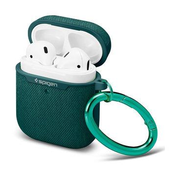 Spigen Urban Fit Apple AirPods 1/2 suojakuori latauskotelolle neulospinnalla, Midnight Green