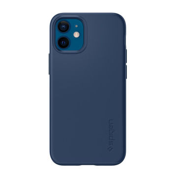 Spigen Thin Fit iPhone 12 Mini suojakuori, Deep Blue