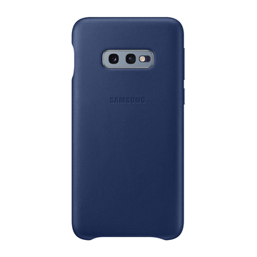 Samsung Galaxy S10e Leather Cover -kuori, Navy Blue