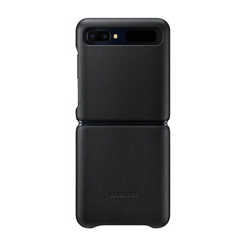 Samsung Galaxy Z Flip 4G & 5G Leather Cover -kuoret, Musta