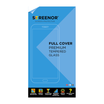 Screenor OnePlus 5 Premium-panssarilasi, Full Cover, musta