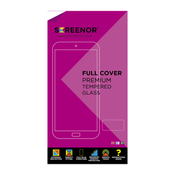 Screenor iPhone XS Max / iPhone 11 Pro Max Premium-panssarilasi, New Full Cover, musta