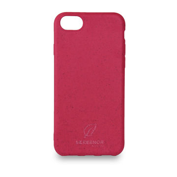 Screenor biohajoava EcoStyle iPhone 6/6S/7/8/SE 2020 -suojakuori, Cherry Pink
