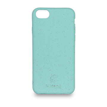 Screenor biohajoava EcoStyle iPhone 6/6S/7/8/SE 2020 -suojakuori, Palm Turquoise