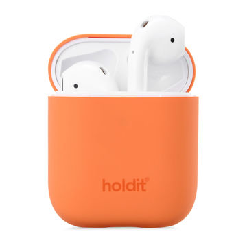 Holdit AirPods 1/2 -silikonikuori, Nygård Orange