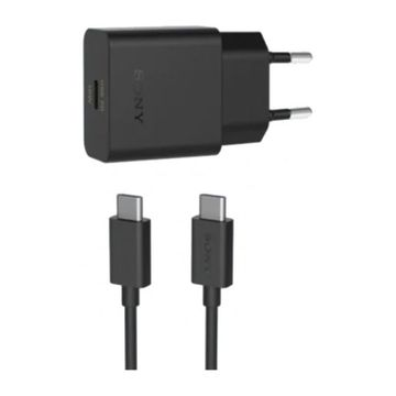 Sony Fast Charger, Type-C, Musta