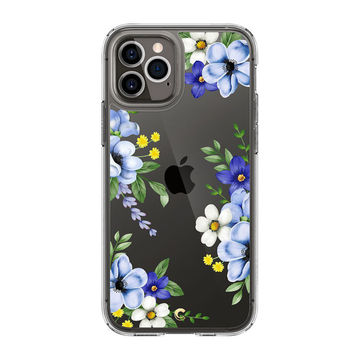 Spigen Cyrill Cecile iPhone 12 / 12 Pro suojakuori, Midnight Bloom