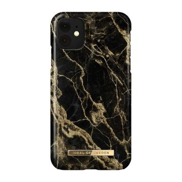 iDeal of Sweden iPhone 11 / XR Fashion Case, Golden Smoke Marble