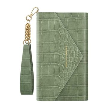 iDeal of Sweden iPhone 11/XR Envelope Clutch -käsilaukku, Sage Croco