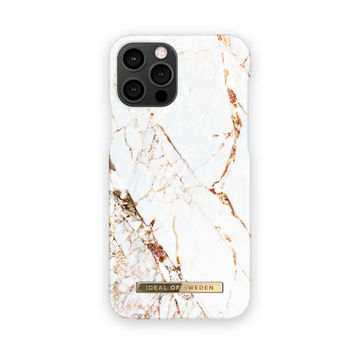 iDeal of Sweden iPhone 12 / 12 Pro Fashion Case, Carrara Gold