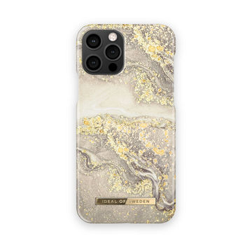 iDeal of Sweden iPhone 12 / 12 Pro Fashion Case, Sparkle Greige Marble
