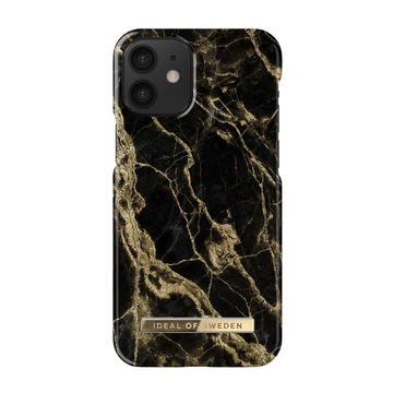 iDeal of Sweden iPhone 12 Mini Fashion Case, Golden Smoke Marble