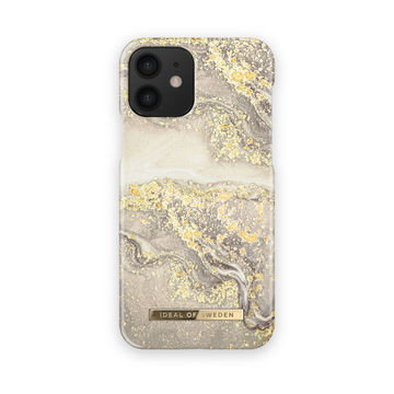 iDeal of Sweden iPhone 12 Mini Fashion Case, Sparkle Greige Marble