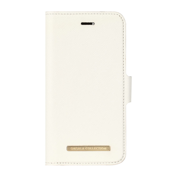 iPhone 6 / 6S / 7 / 8 / SE 2020 Onsala Collection Fashion Edition -lompakko, Saffiano White