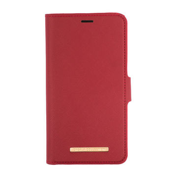 iPhone 12 / 12 Pro Onsala Collection Fashion Edition lompakkokotelo, Saffiano Red