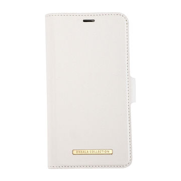 iPhone 12 / 12 Pro Onsala Collection Fashion Edition lompakkokotelo, Saffiano White