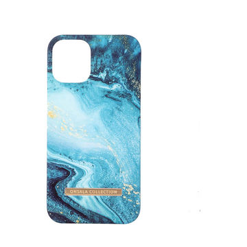 iPhone 12 Mini Onsala Collection Fashion Edition -suojakuori, Blue Sea Marble